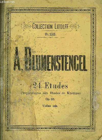24 ETUDES (PREPARATOIRES AUX ETUDES DE KREUTZER)
