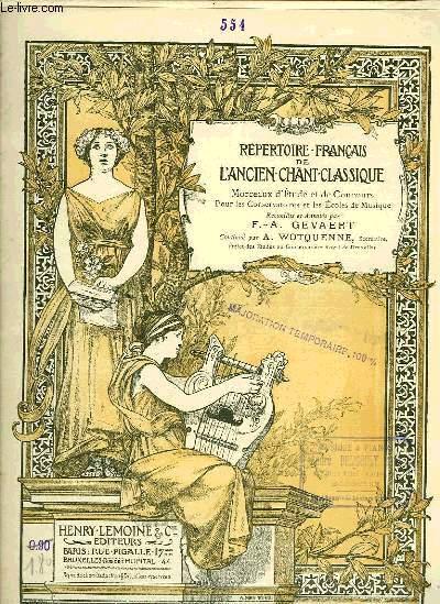 REPERTOIRE FRANCAIS DE L'ANCIEN CHANT CLASSIQUE N°554