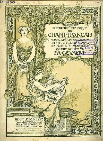 REPERTOIRE CLASSIQUE DU CHANT FRANCAIS N°13