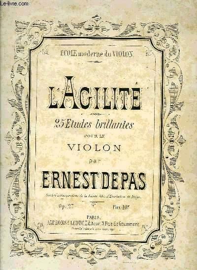 L'AGILITE, 25 ETUDES BRILLANTES POUR LE VIOLON