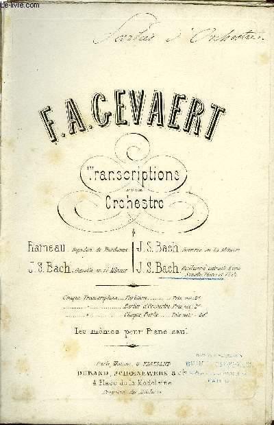 TRANSCRIPTIONS POUR ORCHESTRE