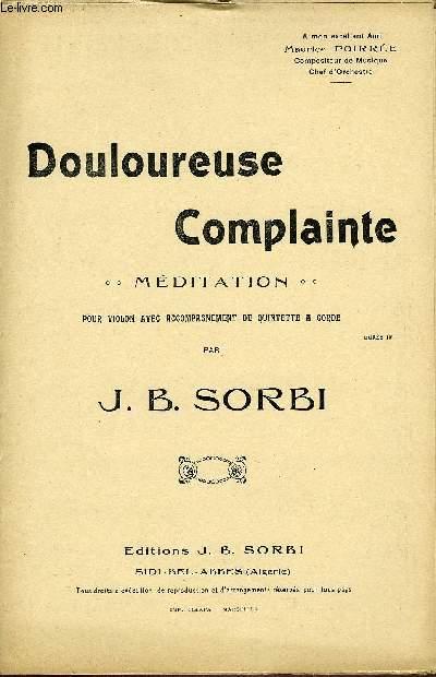 DOULOUREUSE COMPLAINTE