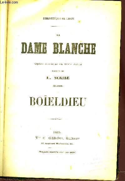 LA DAME BANCHE