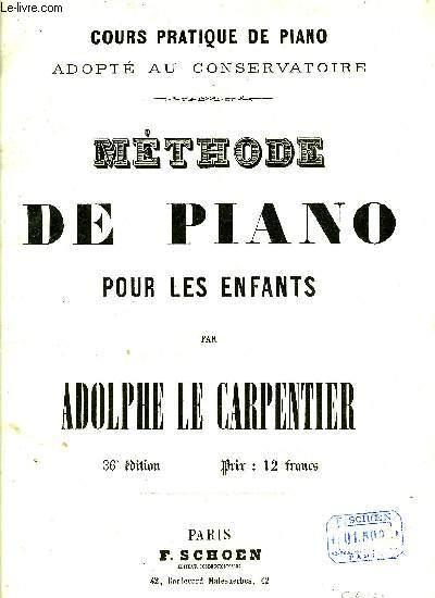 METHODE DE PIANO POUR LES ENFANTS