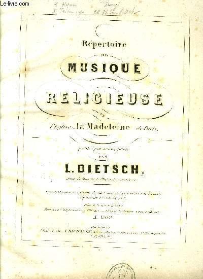 REPERTOIRE DE MUSIQUE RELIGIEUSE DE L'EGLISE DE LA MADELEINE DE PARIS