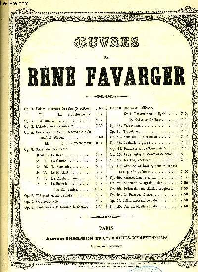 OEUVRES DE RENE FAVARGER