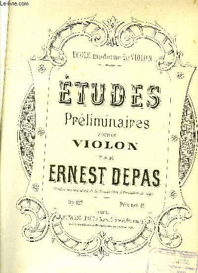 ETUDES PRELIMINAIRE