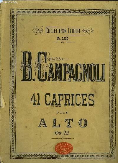 41 CAPRICES POUR ALTO