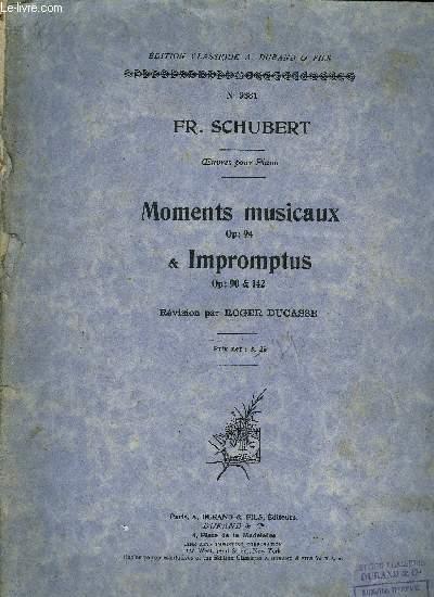 MOMENTS MUSICAUX ET IMPROMPTUS