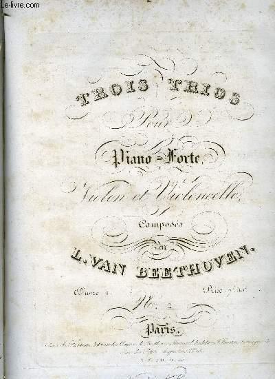 TROIS TRIOS POUR PIANO-FORTE, VIOLONE ET VIOLONCELLE