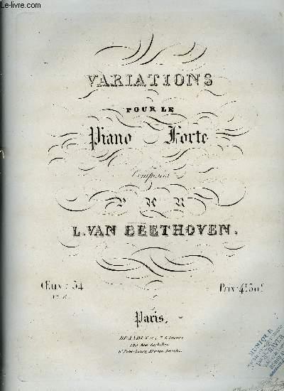 VARIATIONS POUR LE PIANO FORTE