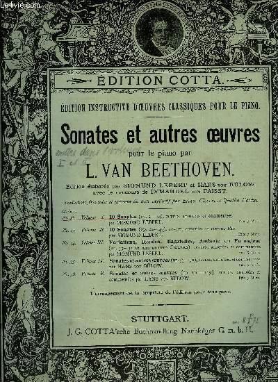 SONATES ET AUTRES OEUVRES POUR LE PIANO