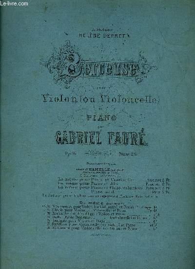 BERCEUSE POUR VIOLON ET PIANO