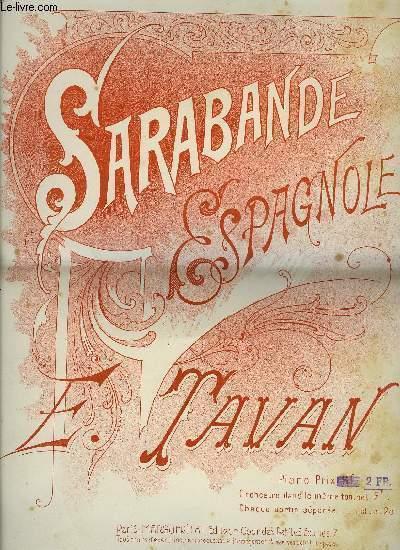SARABANDE ESPAGNOLE