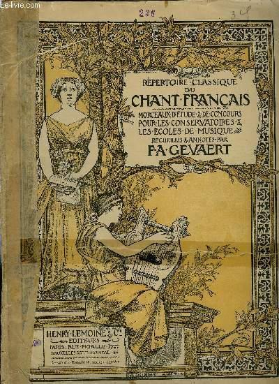 REPERTOIRE DU CHANT FRANCAIS