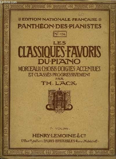 LES CLASSIQUES FAVORS DU PIANO 7EME VOLUME