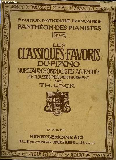 LES CLASSIQUES FAVORIS DU PIANO 6EME VOLUME