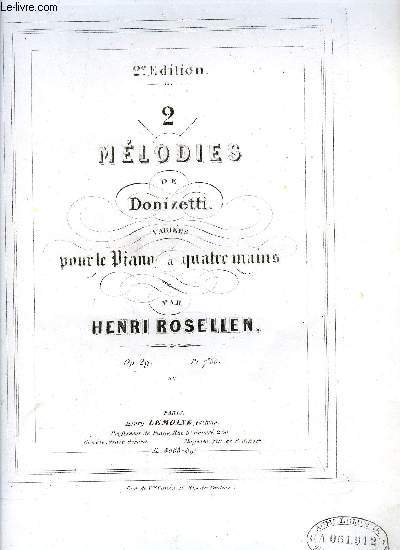 2 MELODIES DE DONIZETTI
