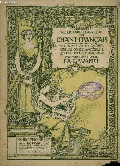 REPERTOIRE DU CHANT CLASSIQUE FRANCAIS N°123.