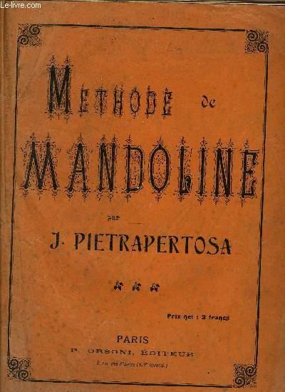 METHODE DE MANDOLINE