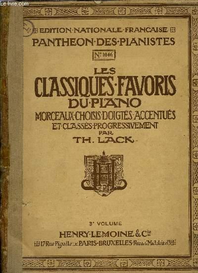LES CLASSIQUES FAVORIS DU PIANO 3EME VOLUME