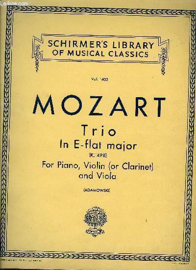 TRIO IN E FLAT MAJOR