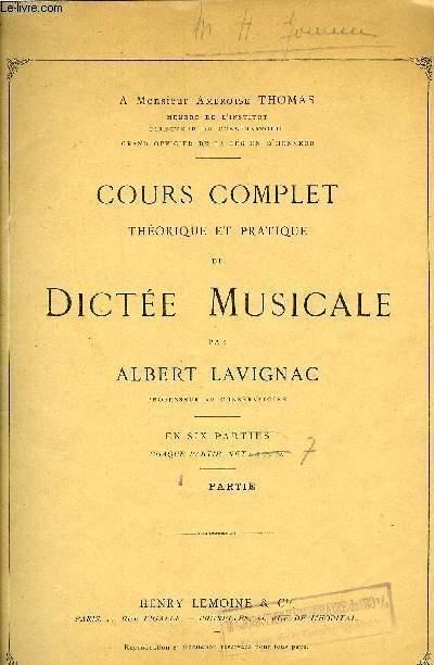 COURS COMPLET DE DICTEE MUSICALE