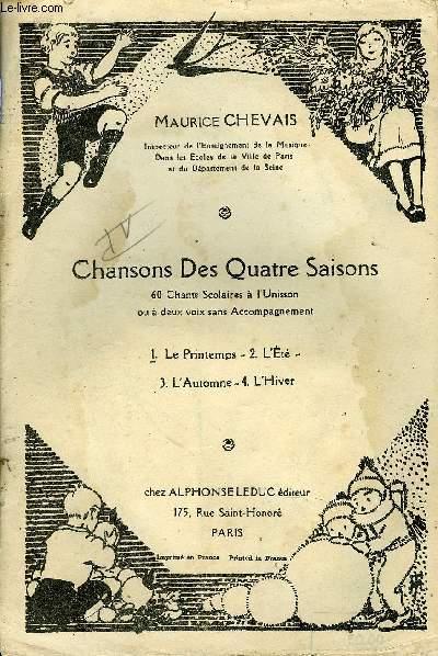 CHANSONS DES QUATRES SAISONS