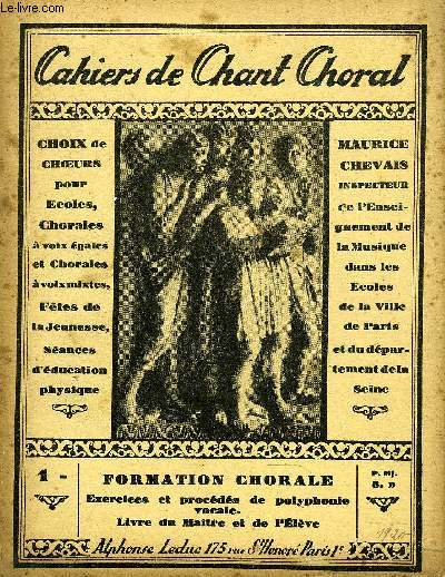 CAHIERS DE CHANT CHORAL