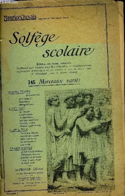 SOLFEGE SCOLAIRE