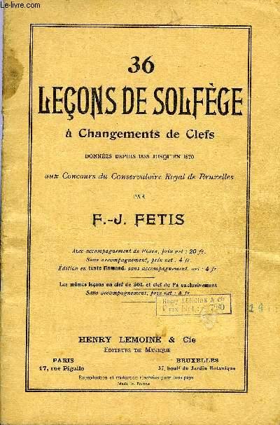 36 LECONS DE SOLFEGE