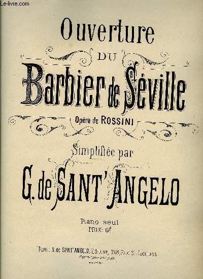 OUVERTURE DU BARBIER DE SEVILLE