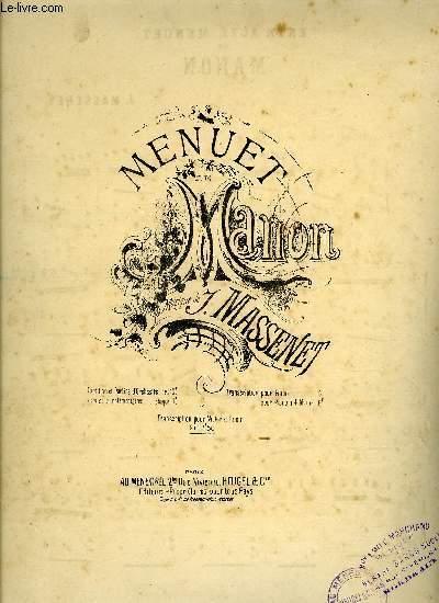 MENUET DE MANON