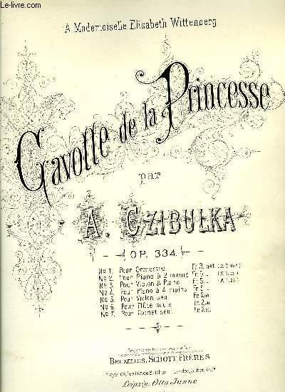 GAVOTTE DE LA PRINCESSE