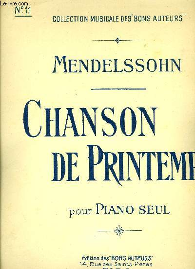 CHANSON DE PRINTEMPS