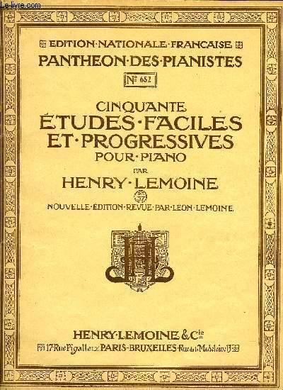 CINQUANTE ETUDES FACILES ET PROGRESSIVES POUR PIANO