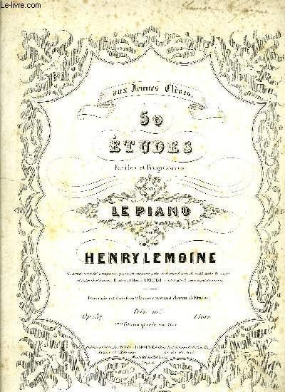 50 ETUDES FACILES ET PROGRESSIVES POUR LE PIANO