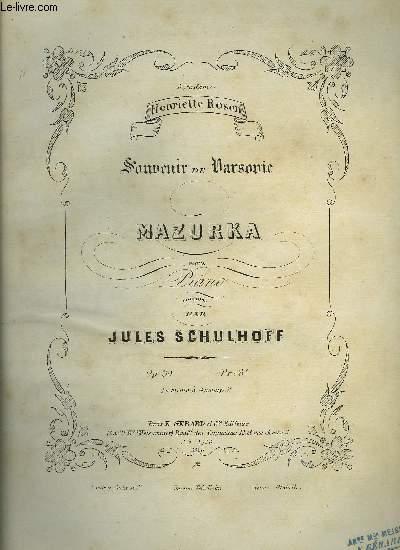 SOUVENIR DE VARSOVIE