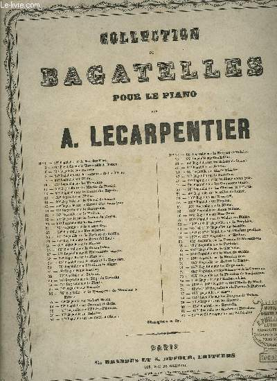 COLLECTION DE BAGATELLE