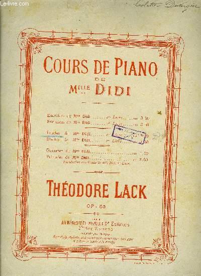 COURS DE PIANO DE MELLE. DIDI