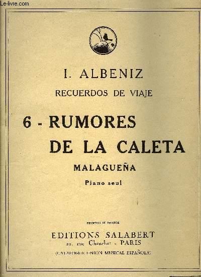 RECUERDOS DE VIAJE - N°6 : RUMORES DES LA CALETA