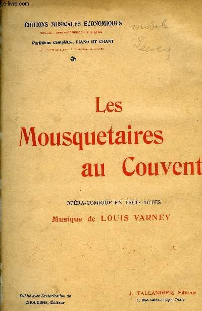 LES MOUSQUETAIRES AU COUVENT