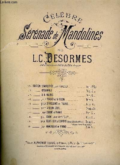 CELEBRE SERENADE DE MANDOLINES