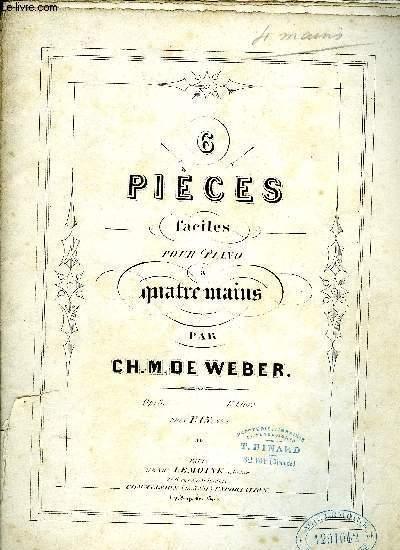 6 PIECES FACILES POUR PIANO A QUATRE MAINS