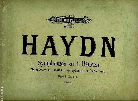 SYMPHONIEN ZU 4 HANDEN (SYMPHONIES A 4 MAINS - SYMPHONIES FOR PIANO DUET)