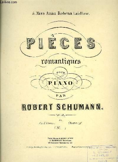 PIECES ROMANATIQUES POUR PIANO