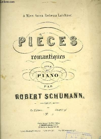 PIECES ROMANTIQUES POUR PIANO