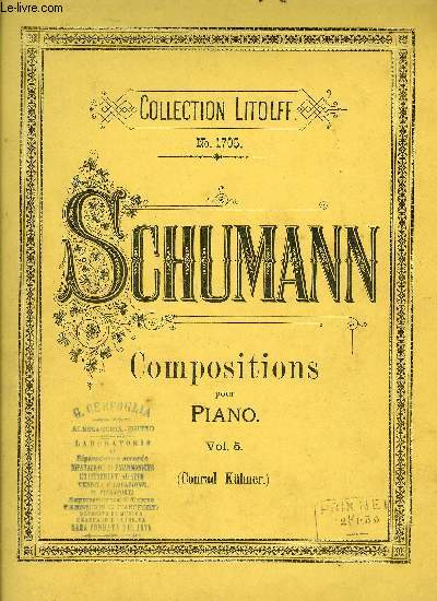 COMPOSITIONS POUR PIANO VOLUME 5