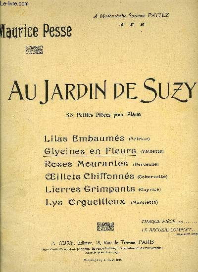 AU JARDIN DE SUZY