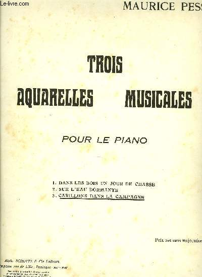 TROIS AQUARELLES MUSICALES